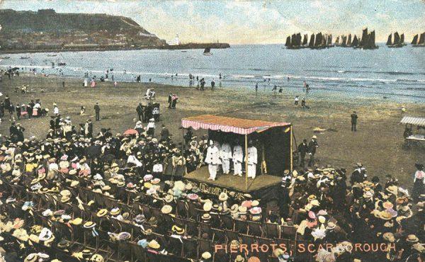 Catlin's-Pierrots-Scarborough-1903-notice-the-striped-canvas-'tilt'-coloured