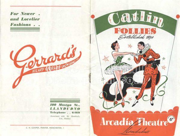 Catlin Follies Arcadia Theatre Llandudno programme