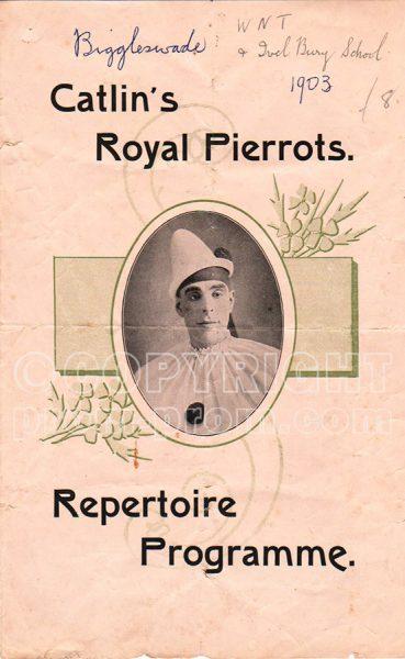 Catlin's Royal Pierrots programme, Biggleswade, 1903