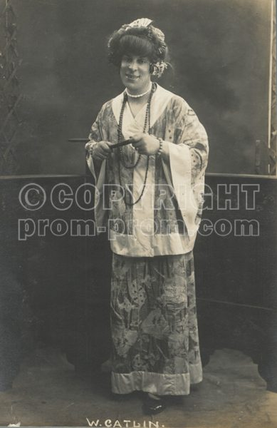 Will Catlin in drag as Japanese woman
