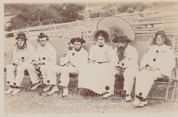 Adeler's Arcadians, near Pump Room, Llandrindod Wells. 1908. Woman is Mollie Mason