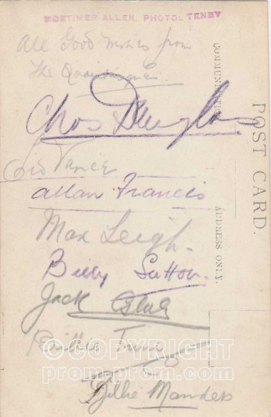 Billie Manders' Quaintesques, Rhyl (Back)