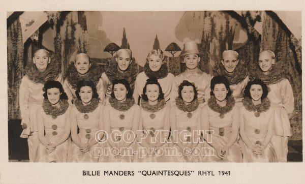 Billie Manders' Quaintesques, Rhyl, 1941