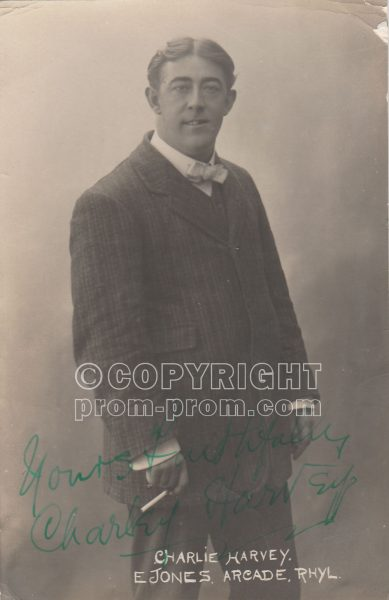 Charlie Harvey (signed), Adeler & Sutton's Pierrots, Rhyl