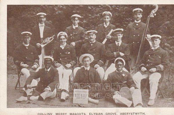 Collins' Merry Mascot Minstrels, Elysian Grove, Aberystwyth, 1905