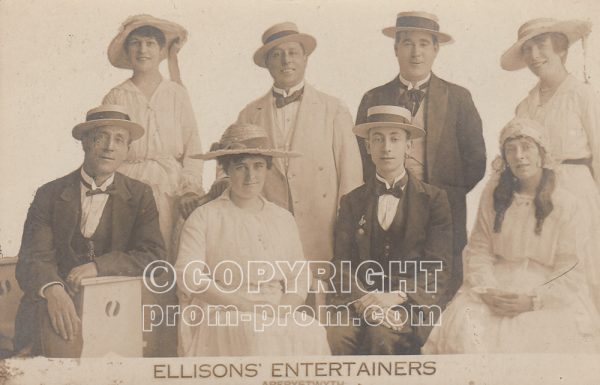 Postcard Ellison's Entertainers, Aberystwyth, (front)