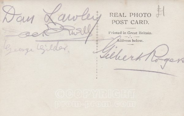 Gilbert Rogers' Jovial Jesters, Rhyl (Back. signed)