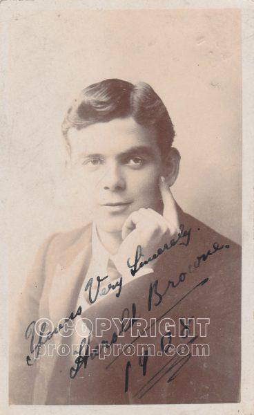 Harold Browne, Rhyl, 1908