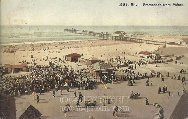 """Pierrot pitch at Rhyl """"Promenade from Palace"""""""