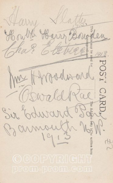 Royal Magnets, Barmouth, 1913, (Back) signed