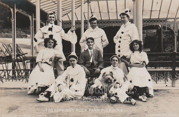 Ted Hopkins's Rock Park Pierrots 1909 with Claude Morton