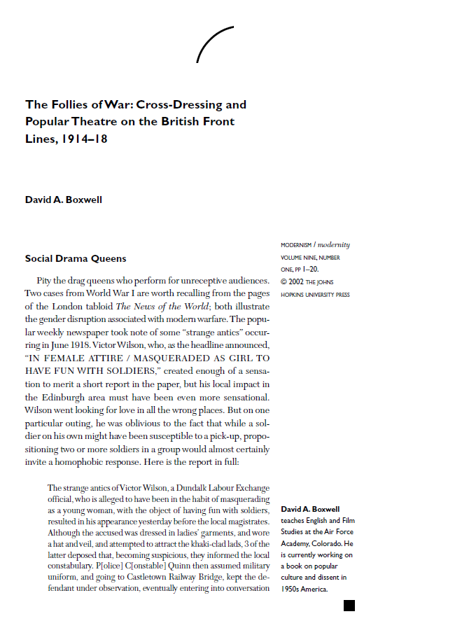 Academic Papers & Articles – Seaside Follies